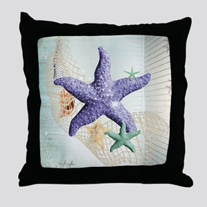 Beach Treasure of The Sea Throw Pillow