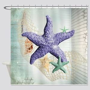 Beach Treasure of The Sea Shower Curtain