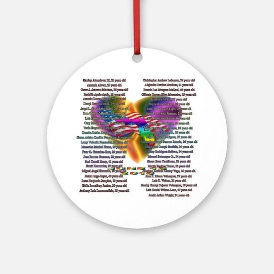 Unique Orlando Round Ornament
