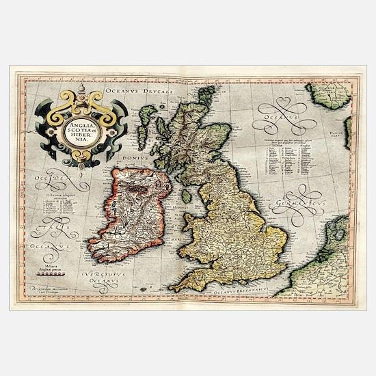 Cute British map Wall Art