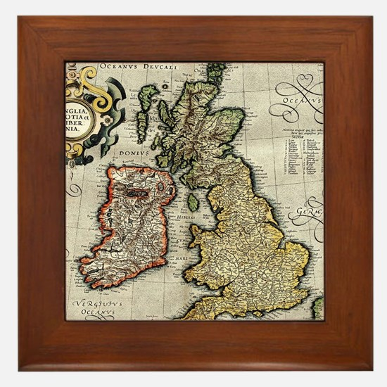 Funny Irish history Framed Tile