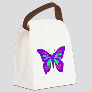 Pretty Butterfly Canvas Lunch Bag