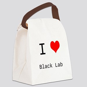 I Heart Personalized Canvas Lunch Bag
