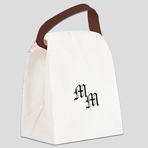 Mongram in Black Canvas Lunch Bag