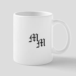 Mongram In Black Mug