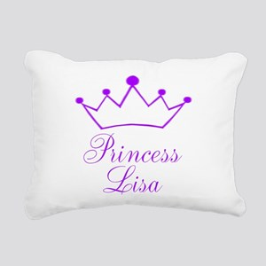 Purple Princess Crown Rectangular Canvas Pillow
