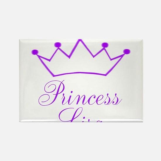 Purple Princess Crown Rectangle Magnet