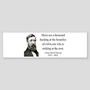 Henry David Thoreau 34 Bumper Sticker