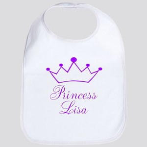 Purple Princess Crown Bib