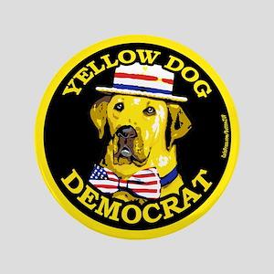 "New Yellow Dog Democrat 3.5"" Button"