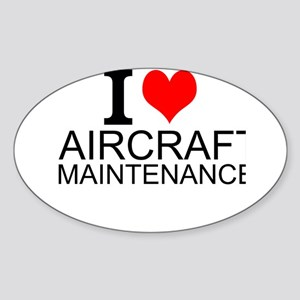 I Love Aircraft Maintenance Sticker