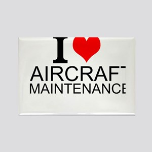 I Love Aircraft Maintenance Magnets