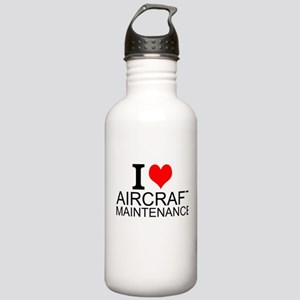I Love Aircraft Maintenance Water Bottle