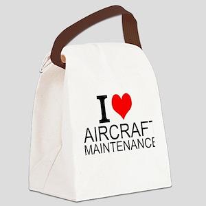 I Love Aircraft Maintenance Canvas Lunch Bag