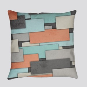 Textured Geometric Abstract Everyday Pillow