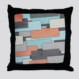 Textured Geometric Abstract Throw Pillow