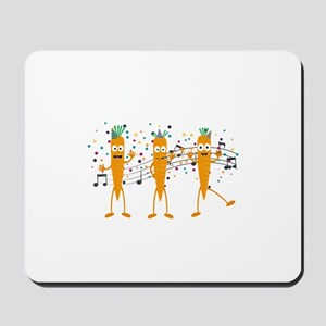 Party carrots Mousepad