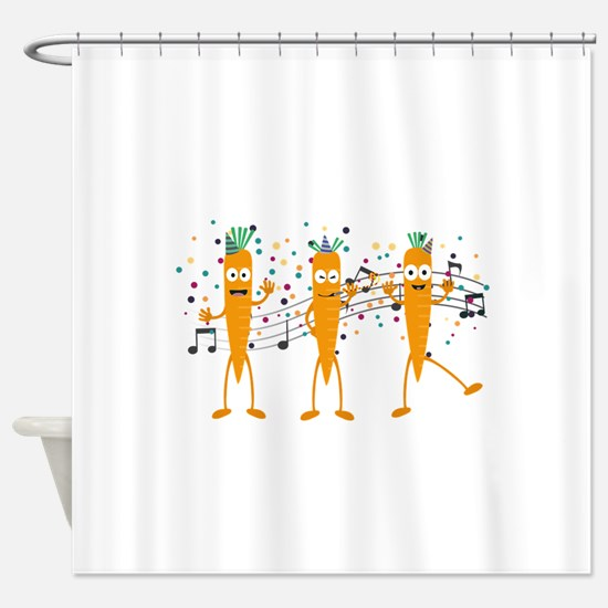 Party carrots Shower Curtain