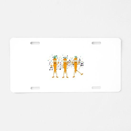 Party carrots Aluminum License Plate