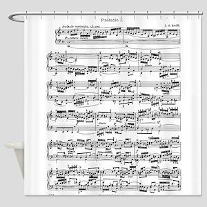 Sheet Music by Bach Shower Curtain