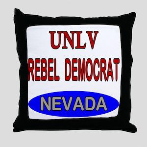 UNLV Rebel Democrat Throw Pillow
