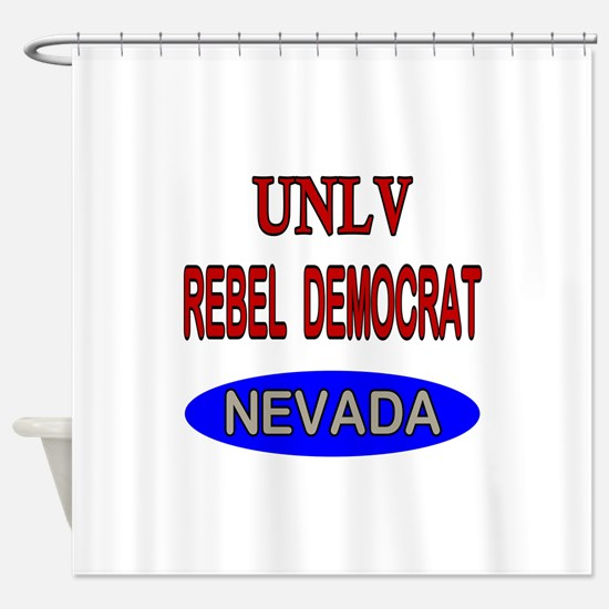 UNLV Rebel Democrat Shower Curtain