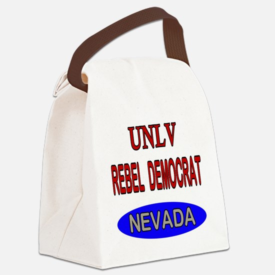 UNLV Rebel Democrat Canvas Lunch Bag
