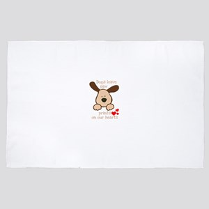 dogs leave paw prints on our hearts 4' x 6' Rug