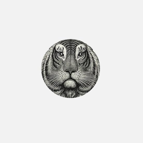 Tiger Head Mini Button