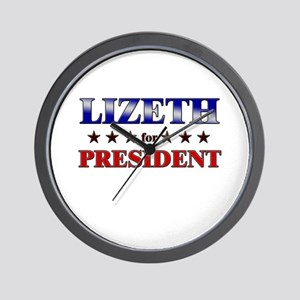 LIZETH for president Wall Clock