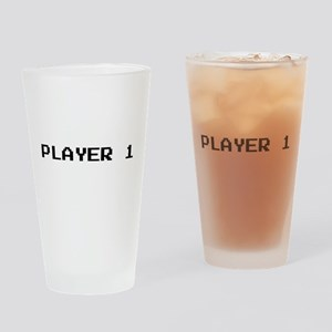 PLAYER 1 Drinking Glass