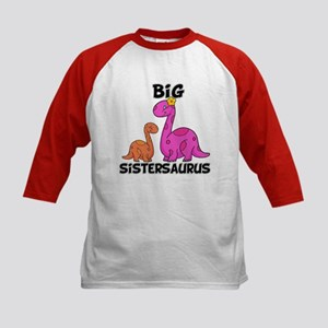 Big Sistersaurus Kids Baseball Jersey