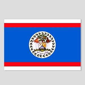 Belize Blank Flag Postcards (Package of 8)