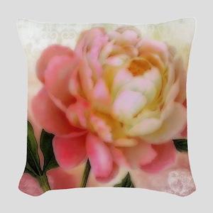 Dreamy rose Woven Throw Pillow