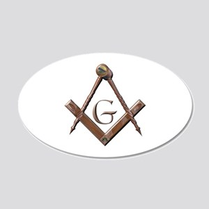 Wooden Masonic Emblem Wall Decal