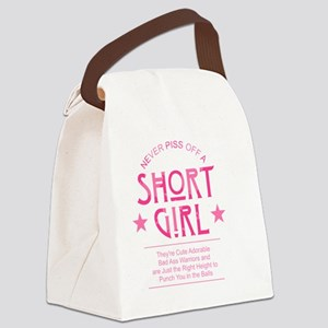 Short Girl Canvas Lunch Bag