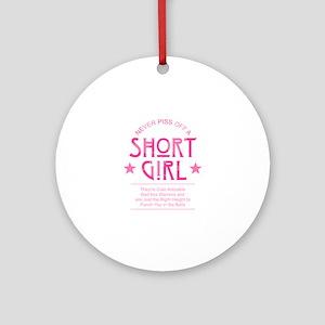 Short Girl Round Ornament