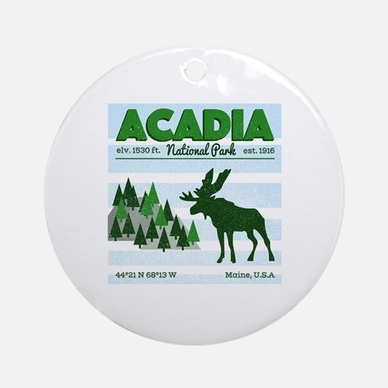 Unique Acadia Round Ornament
