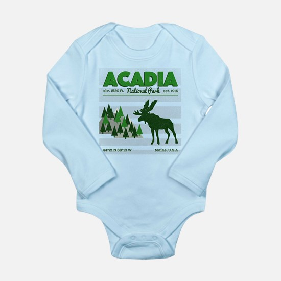 Cool Acadia National Park Vintage Moose Body Suit