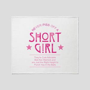 Short Girl Throw Blanket