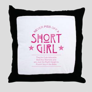 Short Girl Throw Pillow