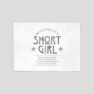 Short Girl 5'x7'Area Rug
