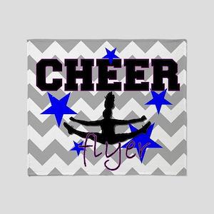 Cheerleader Flyer Throw Blanket