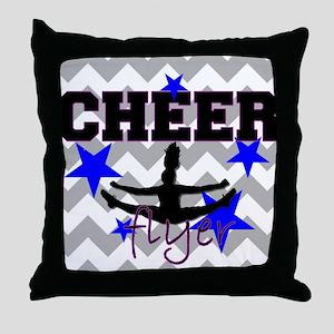 Cheerleader Flyer Throw Pillow