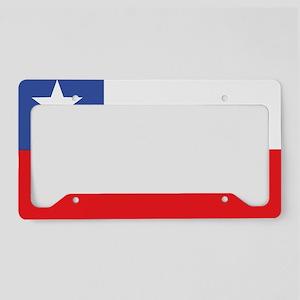 Flag of Chile License Plate Holder