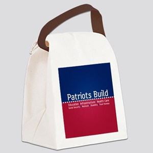 Patriots Build Canvas Lunch Bag
