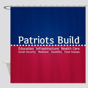 Patriots Build Shower Curtain