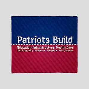 Patriots Build Throw Blanket