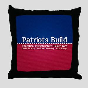Patriots Build Throw Pillow