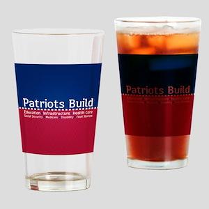 Patriots Build Drinking Glass